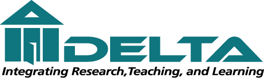 The Delta logo is in teal and depicts a three-pillared
